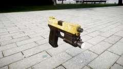 Пистолет HK USP 45 gold для GTA 4
