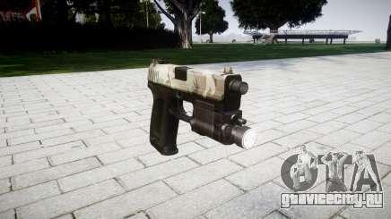 Пистолет HK USP 45 woodland для GTA 4