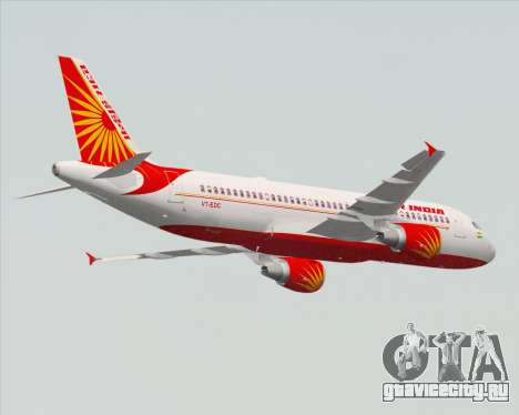 Airbus A320-200 Air India для GTA San Andreas вид сбоку