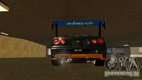 Nissan Skyline R34 FAIL CREW 2014 для GTA San Andreas вид изнутри