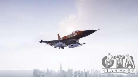 Lockheed F-16I Sufa Storm для GTA 4 вид сзади слева