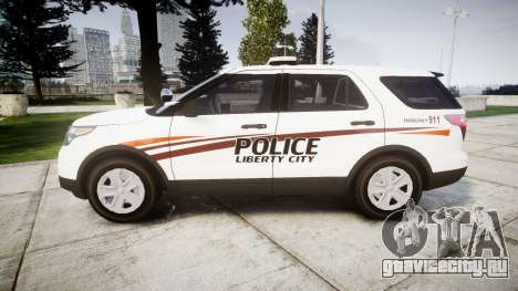 Ford Explorer 2013 Police Interceptor [ELS] для GTA 4 вид слева