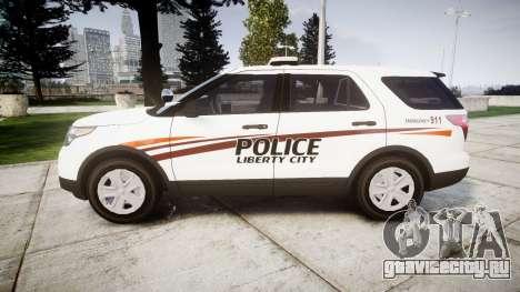 Ford Explorer 2013 Police Interceptor [ELS] для GTA 4 вид слева