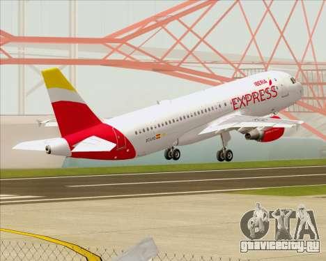 Airbus A320-200 Iberia Express для GTA San Andreas вид снизу