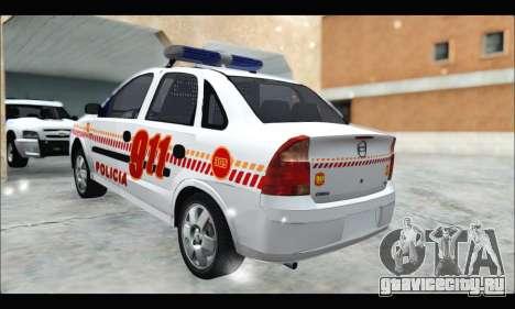 Chevrolet Corsa Premium Policia de Salta для GTA San Andreas вид слева