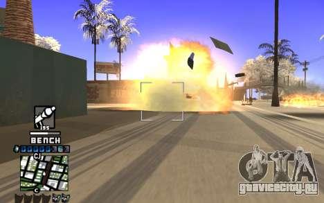 C-HUD Bench для GTA San Andreas третий скриншот