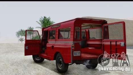 Land Rover Series IIa LWB Wagon 1962-1971 для GTA San Andreas вид изнутри