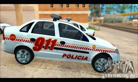 Chevrolet Corsa Premium Policia de Salta для GTA San Andreas вид справа