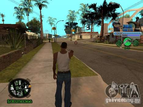 С-Hud Tawer-Ghetto v1.6 Classic для GTA San Andreas