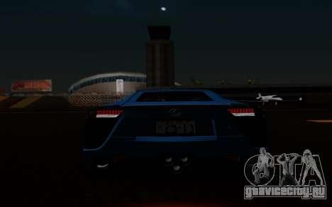 Lexus LF-A 2010 для GTA San Andreas вид снизу