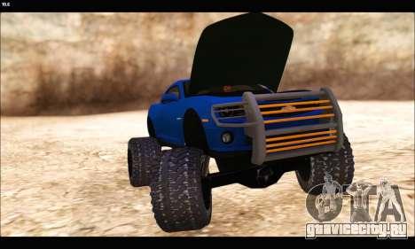 Chevrolet Camaro SUV Concept для GTA San Andreas вид изнутри