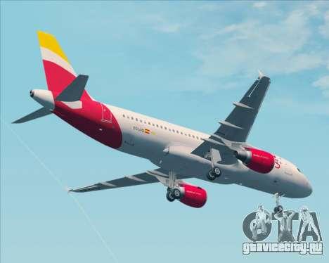 Airbus A320-200 Iberia Express для GTA San Andreas вид сверху