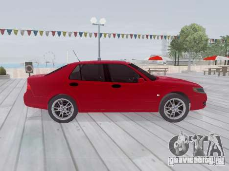 Saab 95 для GTA San Andreas вид изнутри