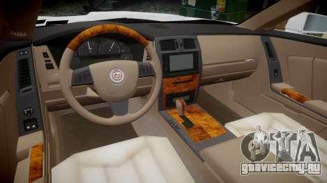 Cadillac XLR-V 2009 для GTA 4 вид сзади