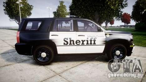 Chevrolet Tahoe 2015 County Sheriff [ELS] для GTA 4 вид слева