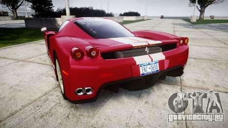 Ferrari Enzo 2002 [EPM] Stripes для GTA 4 вид сзади слева