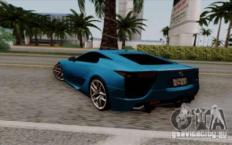 Lexus LF-A 2010 для GTA San Andreas вид слева