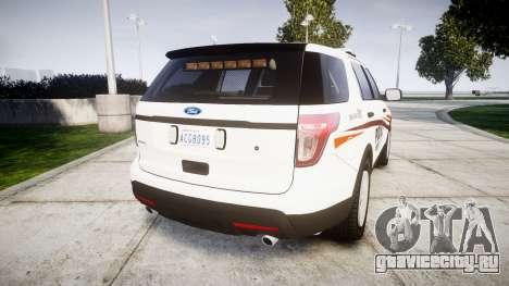Ford Explorer 2013 Police Interceptor [ELS] для GTA 4 вид сзади слева