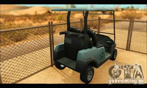 Caddy (GTA V) для GTA San Andreas вид сзади слева