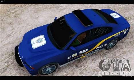 Dodge Charger SXT PREMIUM V6 SSP DF 2014 для GTA San Andreas вид сзади слева