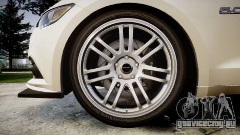 Ford Mustang GT 2015 Custom Kit black stripes для GTA 4 вид сзади