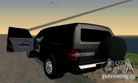 Mitsubishi Pajero Intercooler Turbo 2800 для GTA San Andreas вид слева
