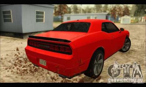 Dodge Challenger SRT-8 2010 v2.0 для GTA San Andreas вид сзади слева