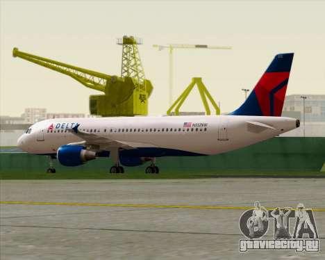 Airbus  A320-200 Delta Airlines для GTA San Andreas вид изнутри