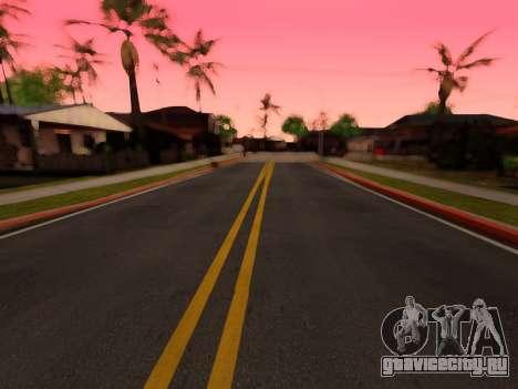 Улучшенные текстуры дорог для GTA San Andreas