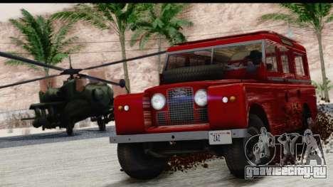 Land Rover Series IIa LWB Wagon 1962-1971 для GTA San Andreas вид справа