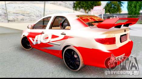 Toyota Vios TRD Racing для GTA San Andreas вид слева