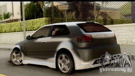 Audi A3 Tuning для GTA San Andreas вид слева