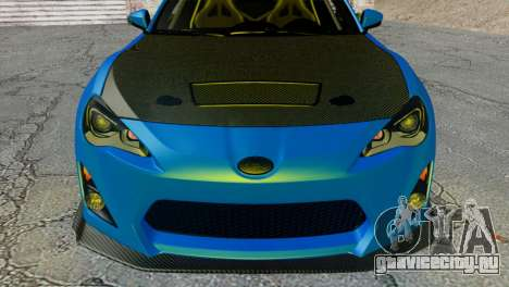 Subaru BRZ Drift Built для GTA San Andreas вид справа