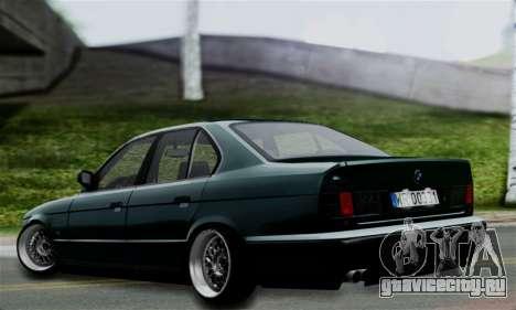 BMW 525 E34 Rims для GTA San Andreas вид слева
