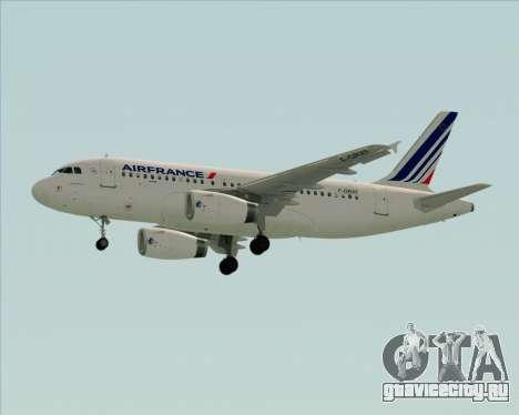 Airbus A319-100 Air France для GTA San Andreas вид изнутри
