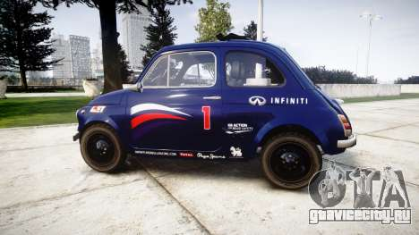 Fiat 695 Abarth SS Assetto Corse 1970 Red Bull для GTA 4 вид слева