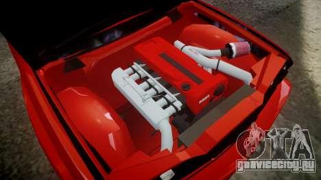 BMW E30 M3 для GTA 4 вид сзади