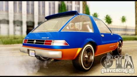 Declasse Rhapsody from GTA 5 для GTA San Andreas вид слева