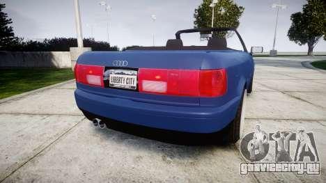 Audi 80 Cabrio us tail lights для GTA 4 вид сзади слева
