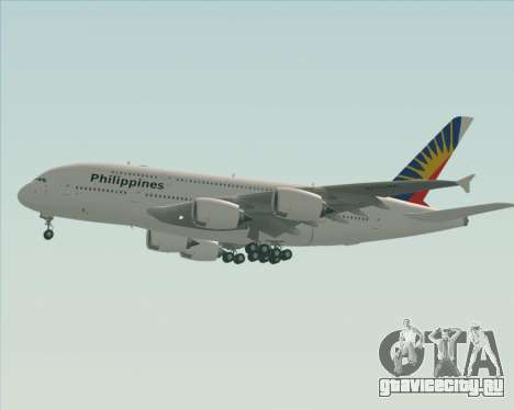 Airbus A380-800 Philippine Airlines для GTA San Andreas вид снизу