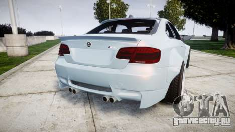 BMW E92 M3 LibertyWalk для GTA 4 вид сзади слева