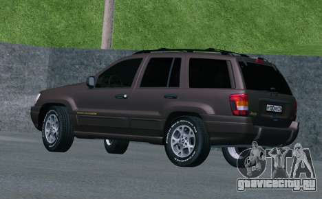 Jeep Grand Cherokee WJ для GTA San Andreas вид справа