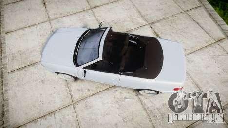 Audi 80 Cabrio euro tail lights для GTA 4 вид справа