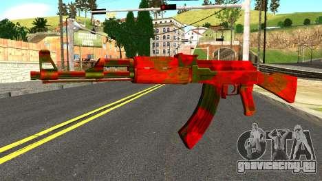 AK47 with Blood для GTA San Andreas