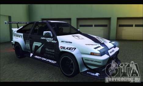 Toyota Corolla Trueno Team DMAC для GTA San Andreas