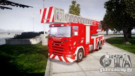 Scania R580 Belgian Fireladder [ELS] для GTA 4