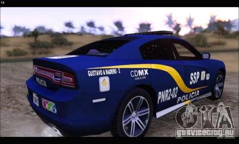 Dodge Charger SXT PREMIUM V6 SSP DF 2014 для GTA San Andreas вид слева