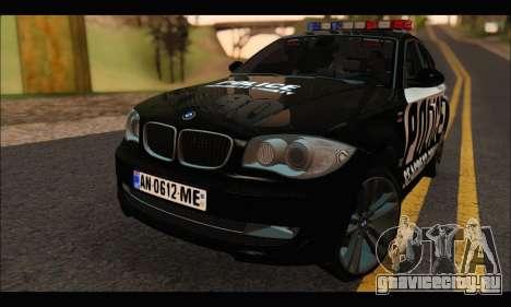 BMW 120i USA Police для GTA San Andreas