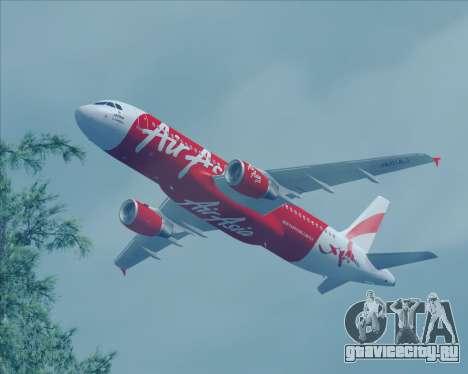 Airbus A320-200 Air Asia Japan для GTA San Andreas вид сзади