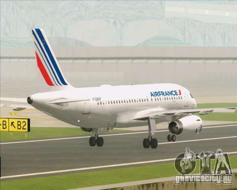 Airbus A319-100 Air France для GTA San Andreas вид снизу